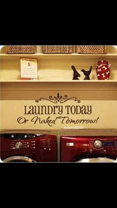 Vinyl Wall Art Vinyl wall decal  Laundry by RyanCustomDesigns