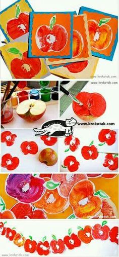 Apfel-Karten The Effective Pictures We Offer You About kids halloween witch A quality picture can te Autumn Crafts, Fall Crafts For Kids, Autumn Art, Toddler Crafts, Art For Kids, Kids Crafts, Kindergarten Art, Preschool Crafts, Apple Activities