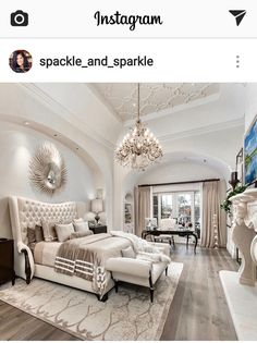 Luxury House Interior Design Tips And Inspiration Master Bedroom Design, Dream Bedroom, Home Bedroom, Beautiful Master Bedrooms, Luxury Master Bedroom, Beds Master Bedroom, King Bedroom, Bedroom With Couch, Master Suite