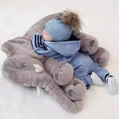 This Elephant Sleeping Pillow provides full-body comfort and has a soothing effect to your baby! Available in blue, pink, gray, yellow, and purple. Get it here! >> https://petitelapetite.com/products/elephant-sleeping-pillow