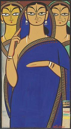 Jamini Roy - Untitled (Three Women)