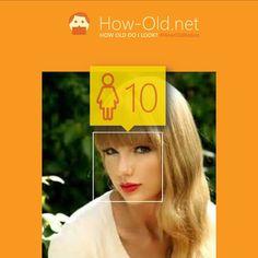"""Die Website """"How old"""" misst wie alt man auf Fotos aussieht. Hier: Taylor Swift."""