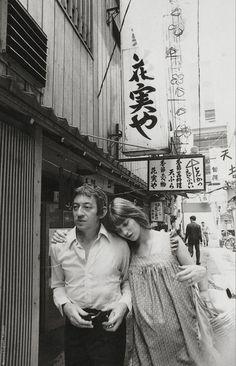 Serge Gainsbourg (1928-1991) & Jane Birkin - Japan, 1971Source : History Image Twitter