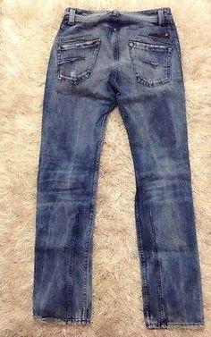 Diesel Men's Darron Straight Denim Skinny Jeans Sz 28 32 / C