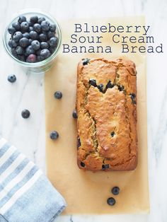 Blueberry Sour Cream Banana Bread