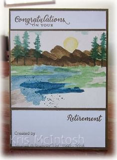 Today's card uses the Waterfront stamp set and once more we are following the Jackie Bolhuis' video with the quick watercolour technique. This card follows a similar layout to yesterda…