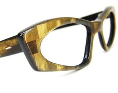 Vintage Brow 1960s Cat Eye Eyeglasses Frames France