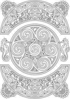 Welcome To Dover Publications Creative Haven Deluxe Edition Celtic Nature Coloring Book