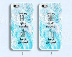 BFF Best Friends case Tall and Short best friends case Cute Couple phone case for iphone Galaxy Bff Iphone Cases, Bff Cases, Funny Phone Cases, Ipod Cases, Best Iphone, Diy Phone Case, Phone Covers, Best Friend Cases, Friends Phone Case