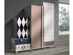 Armadio in legno impiallacciato con cassetti TETRIS | Armadio - Lola Glamour