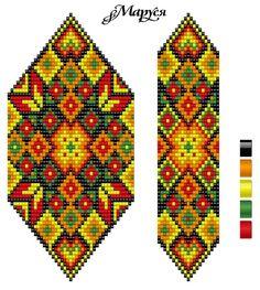 صور Hand Made by Lilu Cool Beaded Bracelet Patterns, Bead Loom Patterns, Peyote Patterns, Beading Patterns, Stitch Patterns, Folk Embroidery, Beaded Embroidery, Seed Bead Jewelry, Native American Beading