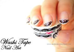 DIY washi tape nails