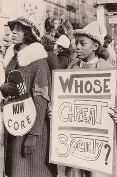 """Whose Great Society?"" Harlem supports the Selma Civil Rights Movement, New York City, 1965 Photo credit: Diana Davies Papers Black History Facts, Black History Month, Sierra Leone, Photo New York, Great Society, Protest Signs, Thing 1, Civil Rights Movement, African Diaspora"