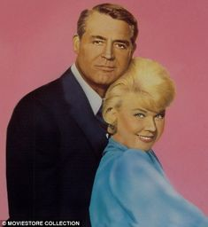 Starstruck: When Cary took Dyan to watch him filming That Touch Of Mink with Doris Day (pictured above), and then drove her to the set in his silver Rolls-Royce, she said she felt like 'the queen sitting next to the king'