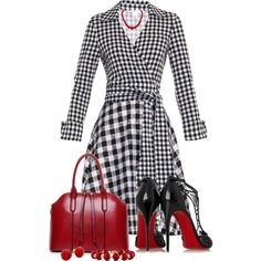 DVF by arjanadesign on Polyvore featuring moda, Diane Von Furstenberg, Christian Louboutin, Marina B and DianeVonFurstenberg