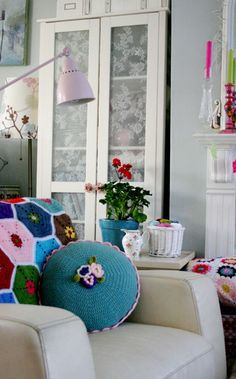 Love the colours, the cushions, the whimsical feeling it gives me. | Flickr - Photo Sharing!