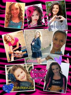 Chloe Maddie Paige Mackenzie Brooke Kendall Asia Nia :) dance moms Dance Moms Facts, Dance Moms Girls, Asia Monet Ray, Famous Dancers, Maddie And Mackenzie, Kendall Vertes, Dance Pictures, Celebs, Celebrities
