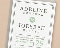 Printable Wedding Invitation Template | INSTANT DOWNLOAD | Mint Type | Edit Yourself in Word or Pages | Easy DIY | Editable Artwork Colors