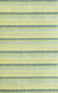 RugStudio presents Kas Loft 2088 Green Hand-Tufted, Good Quality Area Rug