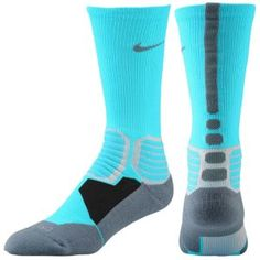 Nike Hyper Elite Basketball Crew Socks - Men's - Gamma Blue/Armory Slate $17.99