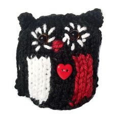 St. Kilda Knitted Owl AFL Football knit owl by TheWoollyOwlhouse