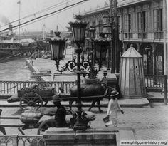 Photo of the Bridge of Spain, known as Puente España spanning Pasig riverPart of the Bridge of Spain a.k.a. Puente España spanning Pasig river in Manila, built by the Spaniards in 1632. The span has since been replaced by Jones Bridge (from Lawton going to Binondo.) Above photo was taken in 1899.