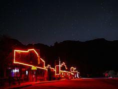 neon lights glowing at Tortilla Flat