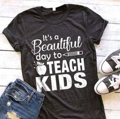 - Teacher Shirts - Ideas of Teacher Shirts - Preschool Teacher Shirts, Teaching Shirts, Teaching Outfits, Shirts For Teachers, Preschool Teacher Appreciation, Teacher Wear, Teacher Style, Teacher Gifts, Teacher Clothes