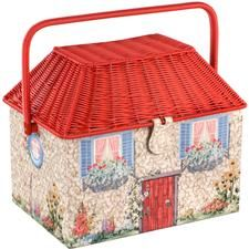 A well-stocked Sewing Basket. Love this one from Cath Kidson!
