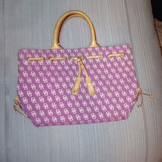 D&B bag! Pink and tan Dooney and Bourke bag ! Excellent condition !! Dooney & Bourke Bags Satchels