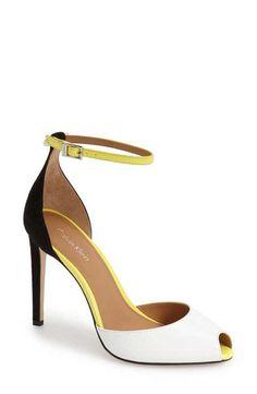 Calvin Klein 'Sirena' Ankle Strap Pump (Women)