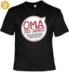 T-Shirt Grossmutter - Oma des Jahres - Geschenk Idee mit Humor zum Muttertag Omatag oder Geburtstag - schwarz, Größe:XL (*Partner-Link)