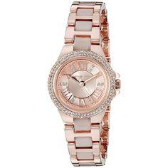 8cfb17cef47f Michael Kors Women s MK4292  Petite Camille  Crystal Rose-Tone Stainless  Steel Watch