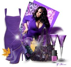 Fun with Friends #54 Michael Kors Purple Python Bag by gaburrus ❤ liked on Polyvore