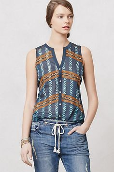 Totally not a LWD, but I want this to wear on the honeymoon.  Sprigstitch Top #anthropologie