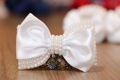 Laço especial para uma princesa arrasar de dama de honra!  #pagem #damadehonrra #wedding  #branco  #laços  #acessóriosdecabelo #acessóriosdecasamento