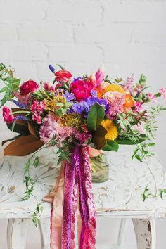 ban.do inspired bouquet...flowers by Scarlett & Grace www.scarlettandgrace.com