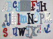 Alfabet w stylu marynarskim