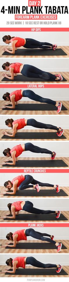 4-Min Plank Tabata Challenge (Day 2): Forearm Plank Exercises