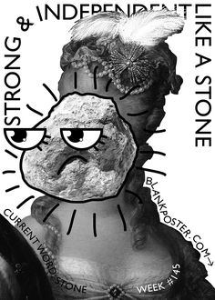 Week #145 - STONE  Check out all posters here –> www.blankposter.com