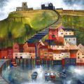 199 Steps Whitby by Kate Lycett is a popular choice with our customers. ltd edition giclee print by Kate Lycett at Heart Gallery Building Painting, Building Art, Karla Gerard, Naive Art, Artist Gallery, North Yorkshire, Pictures To Paint, Home Art, Design Art