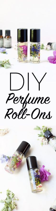 DIY Perfume Roll-On | A spring natural cosmetic tutorial with wild harvested flowers and organic essential oils from http://www.hotelwilderness.com