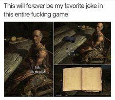 Ulfr the Blind 😂 Video Game Logic, Video Games Funny, Funny Games, Elder Scrolls Memes, Elder Scrolls Skyrim, Elder Scrolls Online, Funny Gaming Memes, Gamer Humor, Geeks
