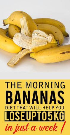 Image result for Banana diet in the morning to lose up to 5 kilos in 7 days