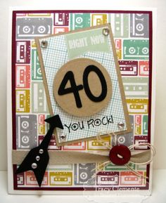 October SOTM You Rock Card by Tracy Clemente #Birthday, #Stampofthemonth, #Cardmaking, http://tayloredexpressions.com/kits.html