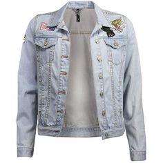 Garage Oversized Denim Jacket (£14) ❤ liked on Polyvore featuring outerwear, jackets, oversized jacket, jean jacket, denim jacket, oversized denim jacket and oversized jean jacket