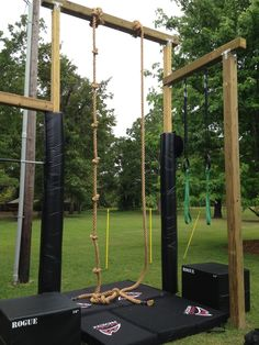 Rogue Rope Climb with Mad Rock Pads ~ Re-Pinned by Crossed Irons Fitness