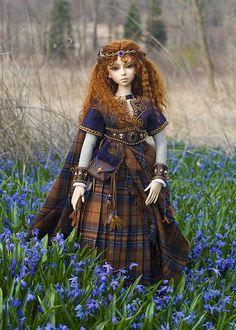 """Celtic Maiden SD"" - An OOAK doll by Martha Boers"