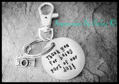 Stamped Keychain for Wedding Party, Photographer, Best Man. - pinned by pin4etsy.com
