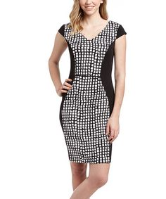 Another great find on #zulily! Black & Red Checkerboard Bodycon Dress #zulilyfinds